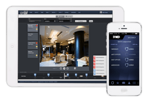 Access Control application shots on tablet and mobile