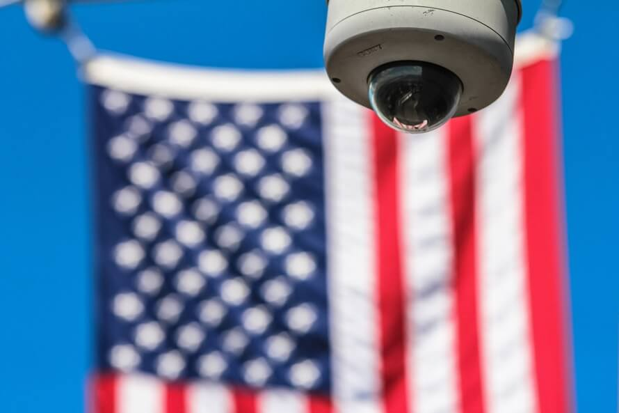 Video Surveillance System and American Flag
