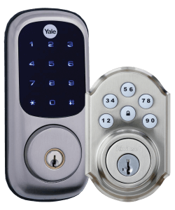yale pushbutton locks