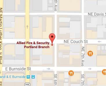 Allied Fire & Security in Portland on Google Maps