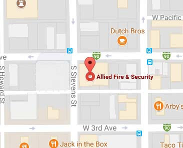 Allied Fire & Security in Spokane on Google Maps