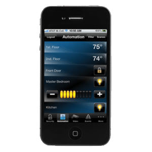 home automation on an iphone
