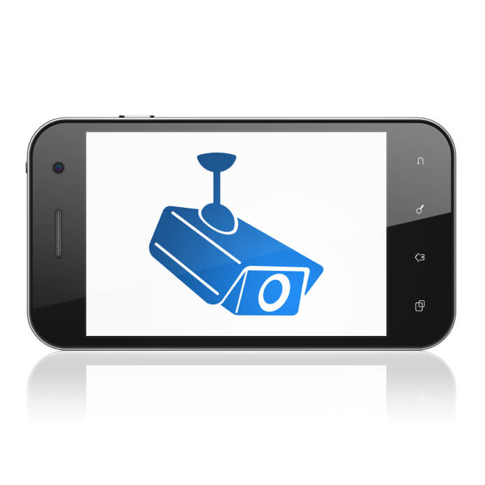 Camera on smartphone - home automation