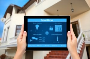 Smart Home iPad App - security system