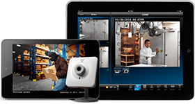 video surveillance viewed on smart devices