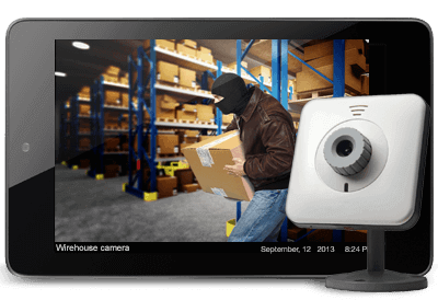 Small Business Security Warehouse on iPad - Security Systems Seattle